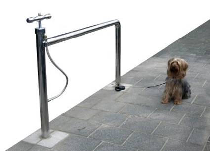 Bicycle stand with pump