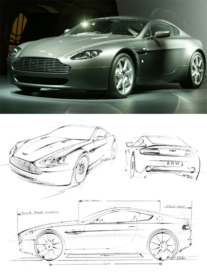 Aston Martin V8 Sketches