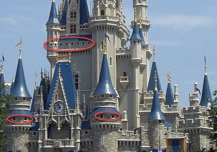 Disney Castle windows